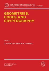 Geometries, Codes and Cryptography | Dodax.pl