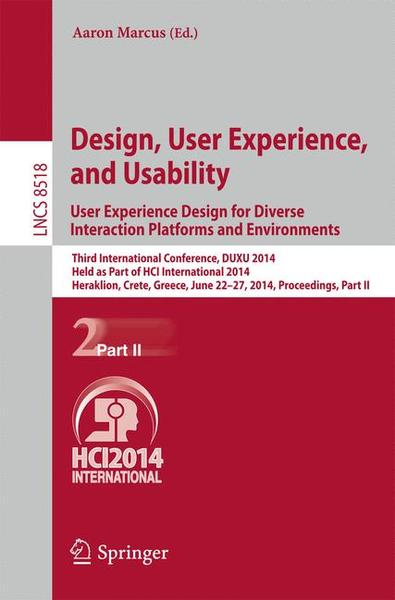 Design, User Experience, and Usability: User Experience Design for Diverse Interaction Platforms and Environments | Dodax.ch