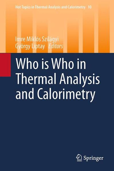 Who is Who in Thermal Analysis and Calorimetry | Dodax.ch