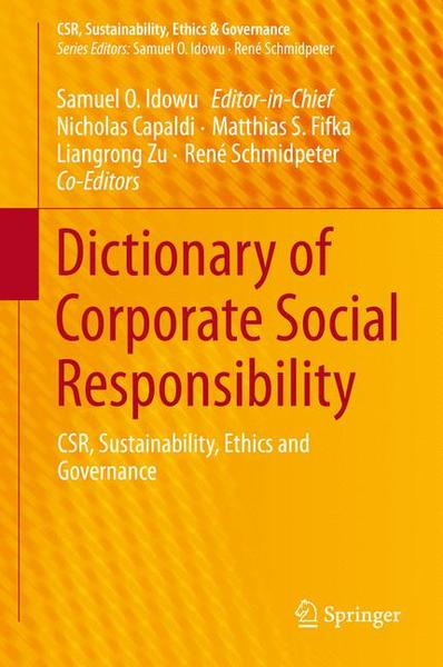Dictionary of Corporate Social Responsibility | Dodax.pl