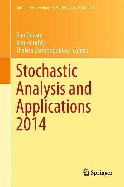 Stochastic Analysis and Applications 2014 | Dodax.ch