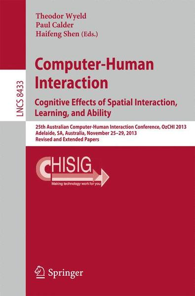 Computer-Human Interaction. Cognitive Effects of Spatial Interaction, Learning, and Ability | Dodax.de