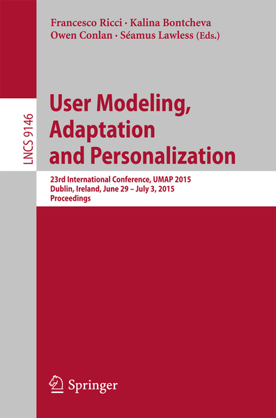 User Modeling, Adaptation and Personalization | Dodax.ch