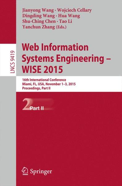 Web Information Systems Engineering - WISE 2015 | Dodax.ch