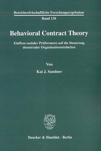 Behavioral Contract Theory. | Dodax.pl