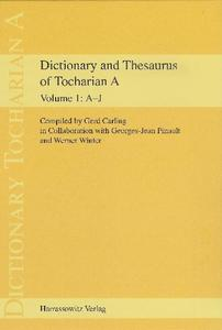 Dictionary and Thesaurus of Tocharian A | Dodax.ch