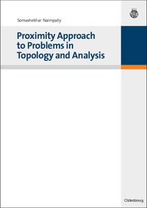 Proximity Approach to Problems in Topology and Analysis   Dodax.ch