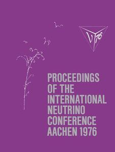 Proceedings of the International Neutrino Conference Aachen 1976 | Dodax.ch