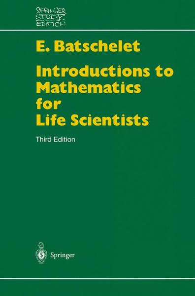 Introduction to Mathematics for Life Scientists | Dodax.ch