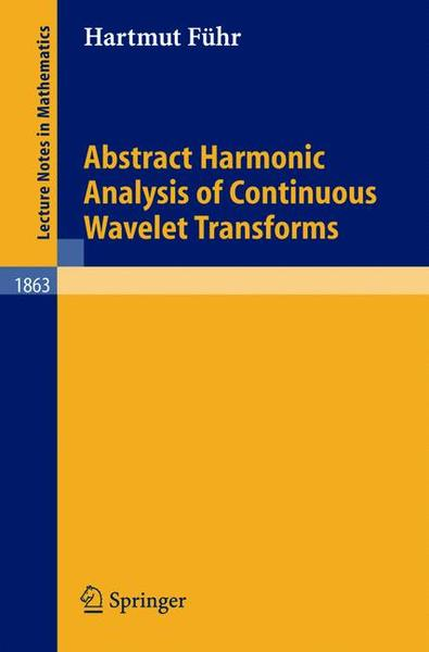 Abstract Harmonic Analysis of Continuous Wavelet Transforms | Dodax.ch