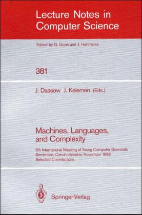 Machines, Languages, and Complexity | Dodax.ch