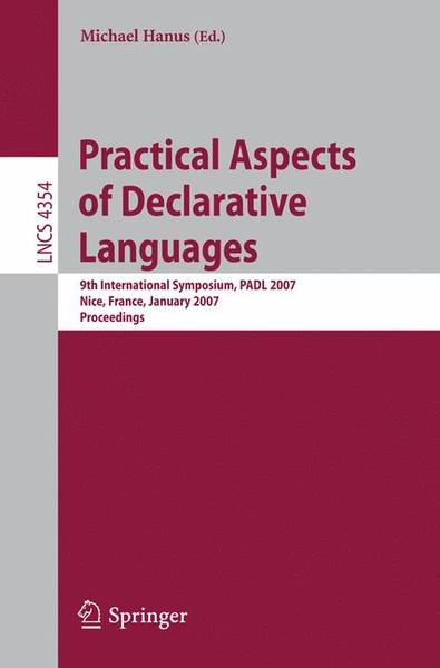 Practical Aspects of Declarative Languages | Dodax.ch