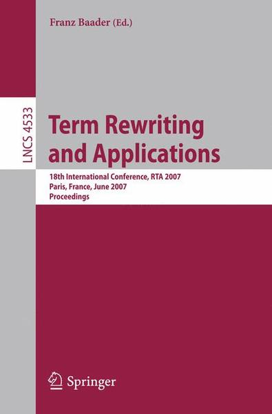 Term Rewriting and Applications | Dodax.ch