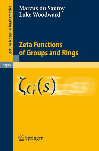 Zeta Functions of Groups and Rings | Dodax.ch