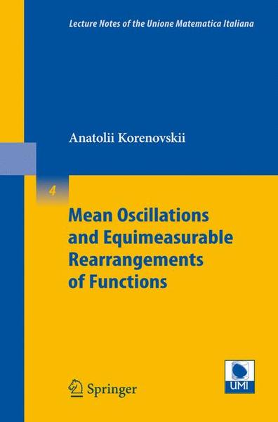 Mean Oscillations and Equimeasurable Rearrangements of Functions   Dodax.ch