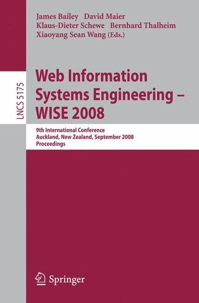 Web Information Systems Engineering - WISE 2008 | Dodax.ch