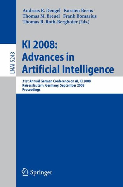 KI 2008: Advances in Artificial Intelligence | Dodax.ch
