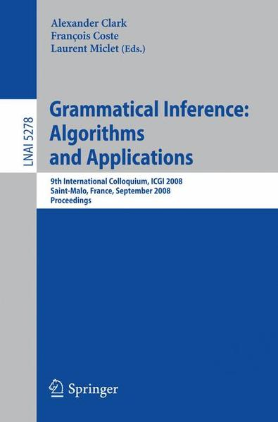 Grammatical Inference: Algorithms and Applications | Dodax.ch