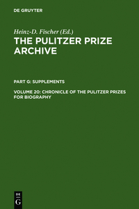 Chronicle of the Pulitzer Prizes for Biography | Dodax.at