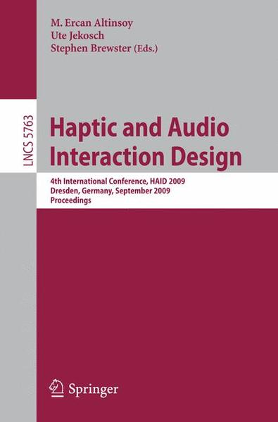 Haptic and Audio Interaction Design | Dodax.ch