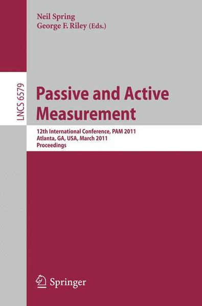 Passive and Active Measurement | Dodax.ch