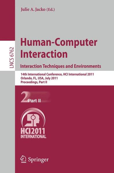 Human-Computer Interaction: Interaction Techniques and Environments | Dodax.ch