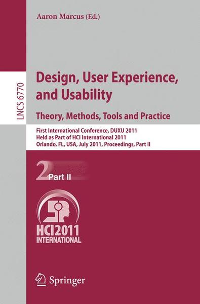 Design, User Experience, and Usability. Theory, Methods, Tools and Practice | Dodax.ch