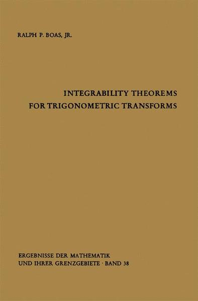 Integrability Theorems for Trigonometric Transforms | Dodax.ch