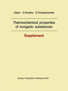 Thermochemical properties of inorganic substances | Dodax.ch
