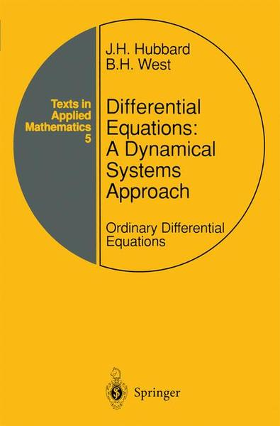 Differential Equations: A Dynamical Systems Approach | Dodax.ch