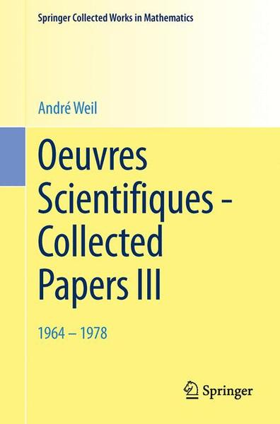 Oeuvres Scientifiques - Collected Papers III | Dodax.ch