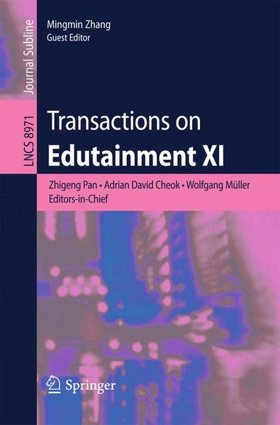 Transactions on Edutainment XI | Dodax.ch