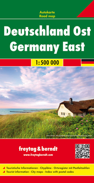 Freytag & Berndt Autokarte Deutschland Ost 1:500.000. Germany East | Dodax.at