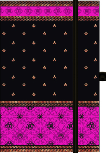 "Premium Notes Small Textile ""Indian Sari-Pink"" 