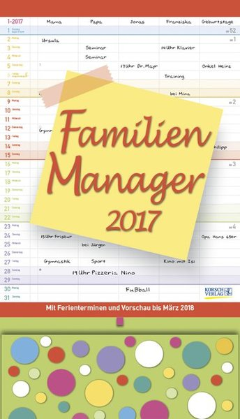 Familien Manager 2017 | Dodax.at