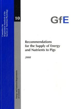 Recommendations for the Supply of Energy and Nutrients to Pigs 2008 | Dodax.ch