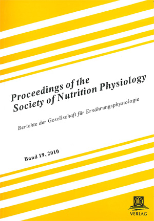 Proceedings of the Society of Nutrition Physiology Band 19 | Dodax.ch