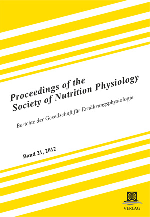 Proceedings of the Society of Nutrition Physiology Band 22 | Dodax.ch