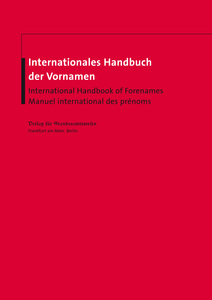 Internationales Handbuch der Vornamen. International Handbook of Forenames. Manuel international des prénoms | Dodax.ch