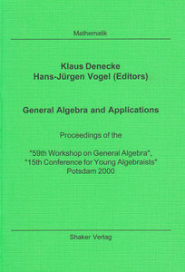 General Algebra and Applications | Dodax.ch