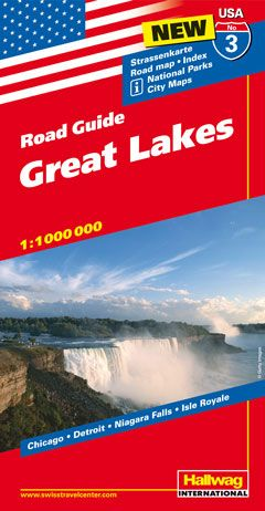 Hallwag USA Road Guide Great Lakes | Dodax.ch