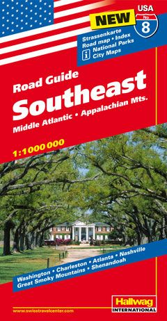 Hallwag USA Road Guide Southeast | Dodax.at