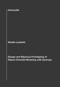 Design and Rigorous Prototyping of Object-Oriented Modeling with Syntropy | Dodax.pl