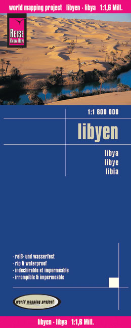 World Mapping Project Reise Know-How Landkarte Libyen (1:1.600.000). Libya. Libye; Libia | Dodax.ch