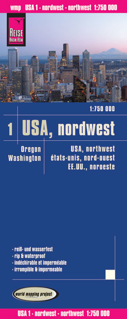 World Mapping Project USA Nordwesten. USA Northwest. États-unis, nord-ouest; EE.UU.noroeste | Dodax.ch
