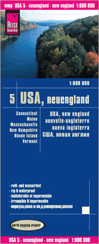 World Mapping Project USA, Neuengland. USA, New England. USA, nouvelle angleterre; USA, nueva inglaterra | Dodax.at