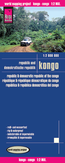World Mapping Project Republik und Demokratische Republik Kongo. Republic & Democratic Republic of the Congo. République & République Démocratique du Congo; República & República democrática del Congo | Dodax.at