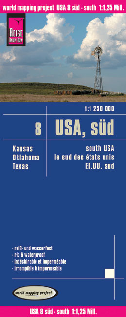 Reise Know-How Landkarte USA 08, Süd (1:1.250.000) : Kansas, Oklahoma, Texas | Dodax.co.uk
