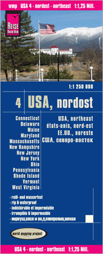 World Mapping Project USA, Nordost. USA, Northeast. États-Unis, nord-est. EE.UU., noreste | Dodax.ch