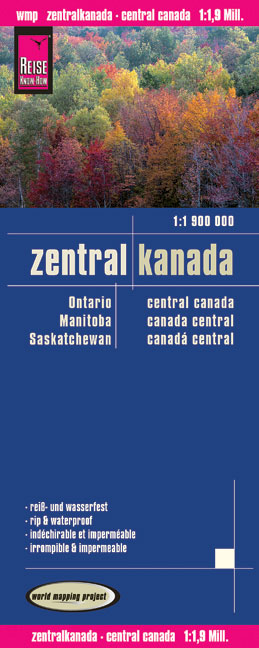 World Mapping Project Reise Know-How Landkarte Zentralkanada (1:1.900.000). Central Canada. Canada central | Dodax.ch